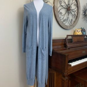 MATTY M Size XL Gray Duster Open Cardigan Sweater